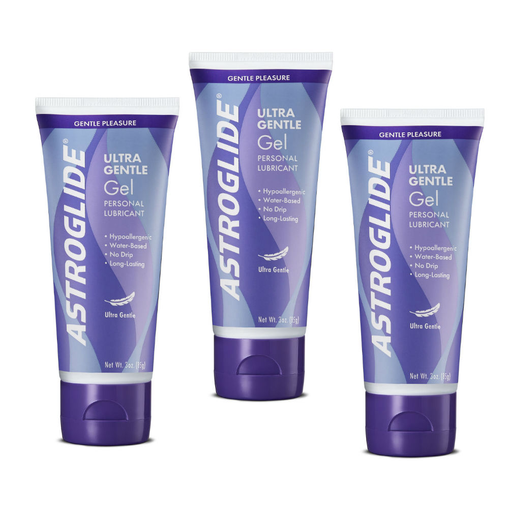 Astroglide Sensitive Skin Ultra Gentle Gel Lube 3 Fl. Oz. Bottles Pack of 3 - View #1