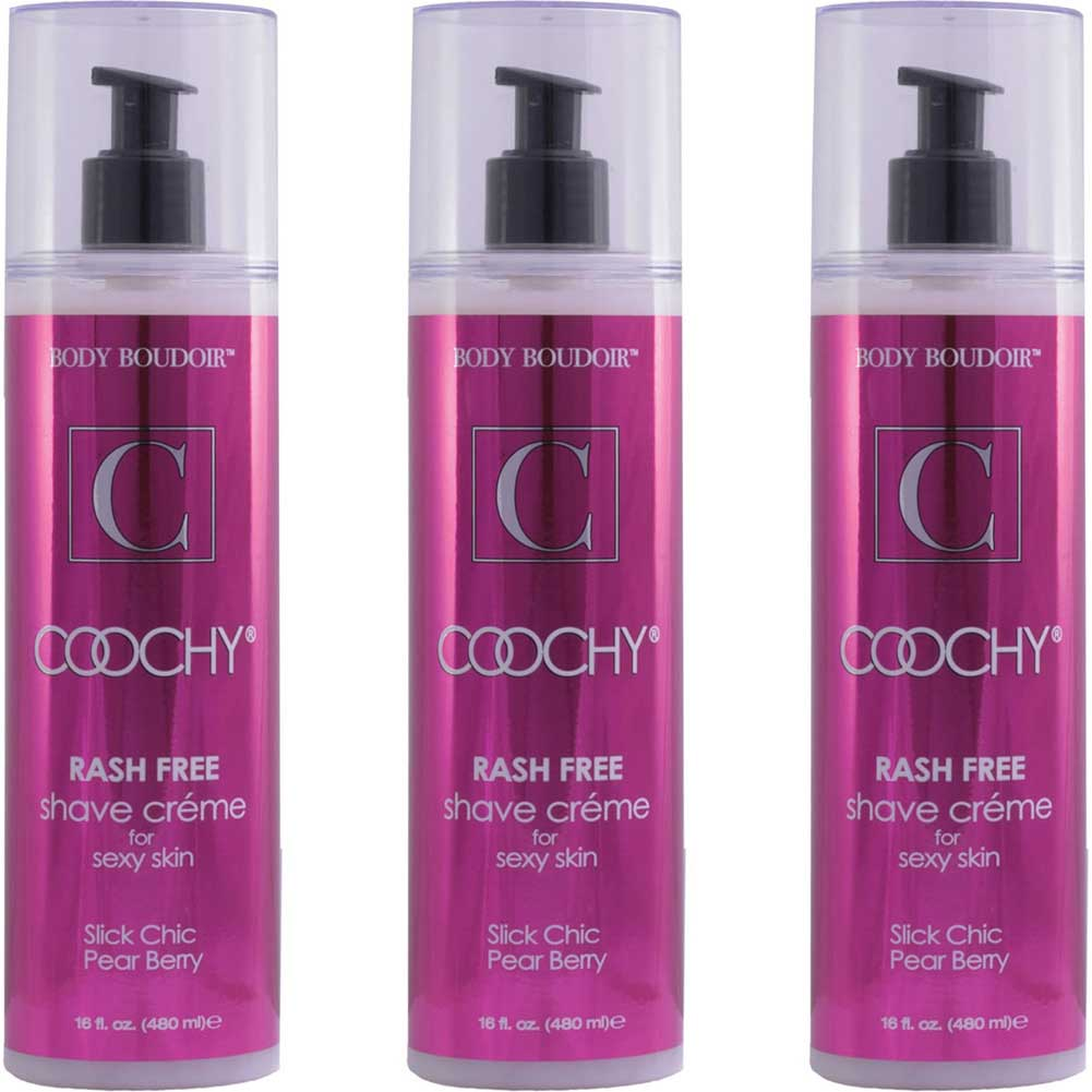 Coochy Rash Free Shave Creme Slick Chic Pear Berry 16 Fl. Oz Bottles Pack of 3 - View #2