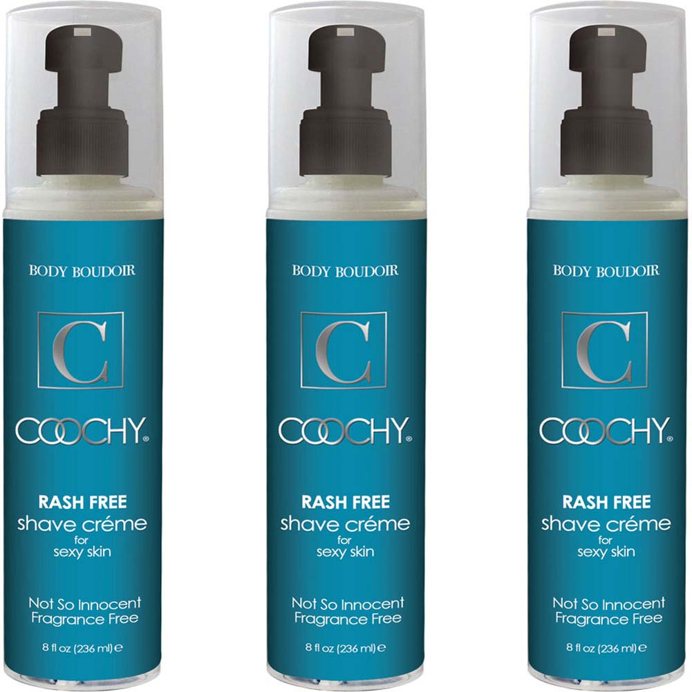 Coochy Rash Free Shave Creme Fragrance Free 8 Fl. Oz. Bottles Pack of 3 - View #1
