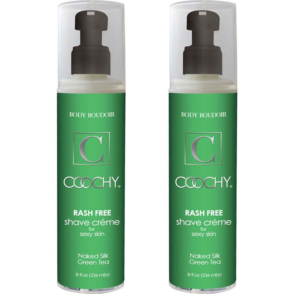 Coochy Rash Free Shave Creme Naked Silk Green Tea 8 Fl. Oz. Bottles Pack of 2 - View #1