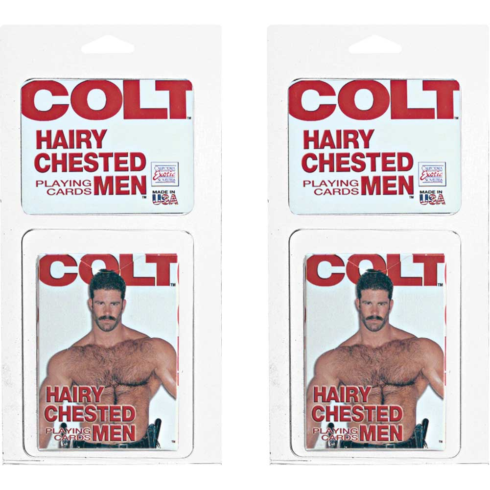 Colt Hairy Chested Men Playing Cards 2 Pack - View #2