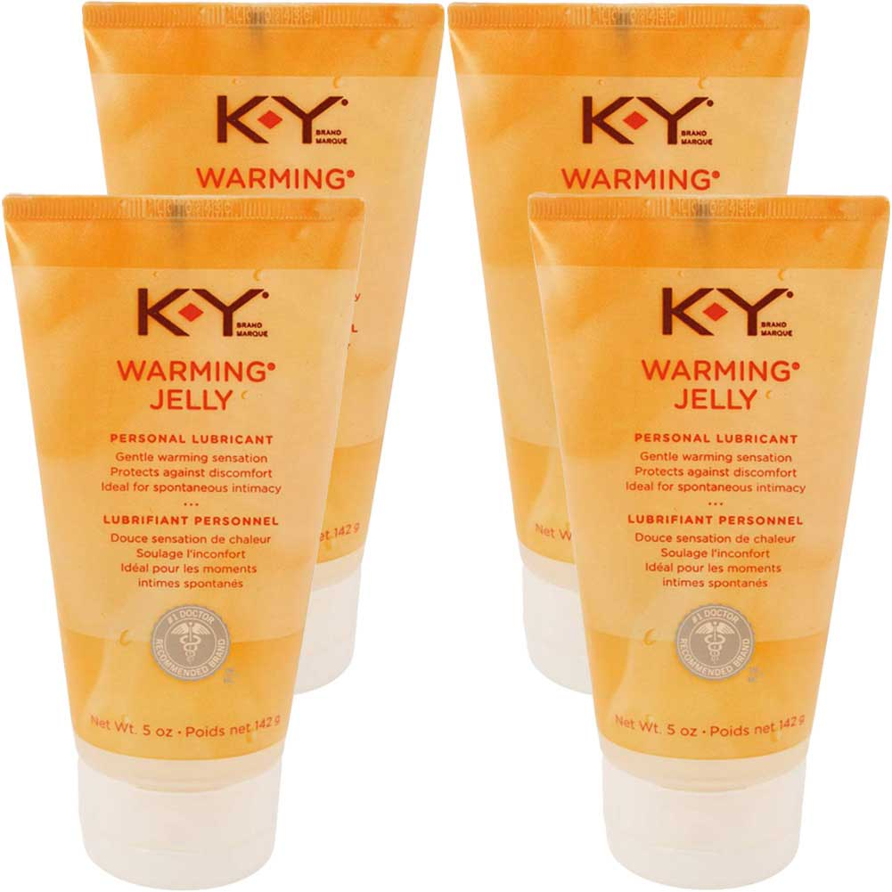 K-Y Jelly Warming Water-Based Lubricant 5 Fl.Oz 148 mL Pack of 4 - View #1
