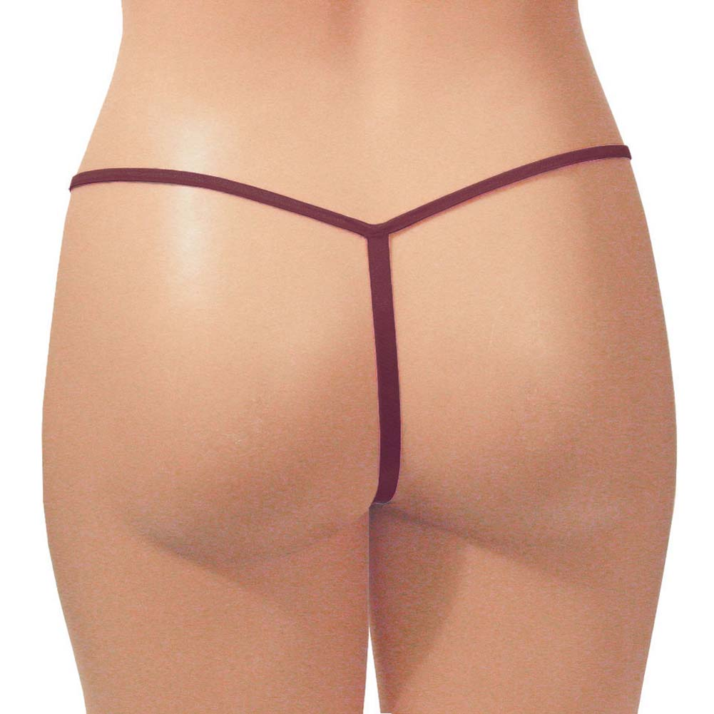 Dear Lady Collection G-String Panty Plus Size Burgundy - View #2
