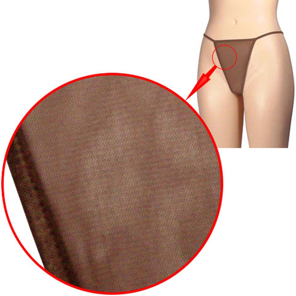Dear Lady Collection G-String Panty Sheer Mesh One Size Chocolate - View #3