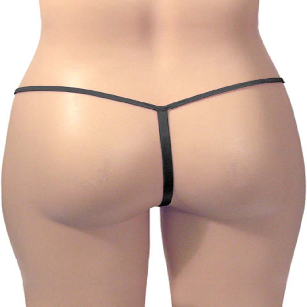 G-String Panty Black Plus Size - View #3