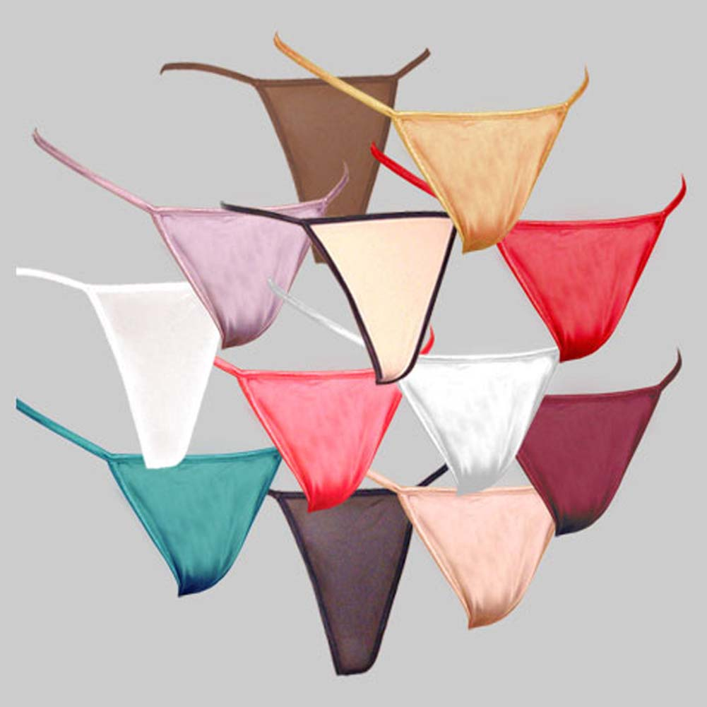 G-String Panty Rainbow 12 Pack - View #1