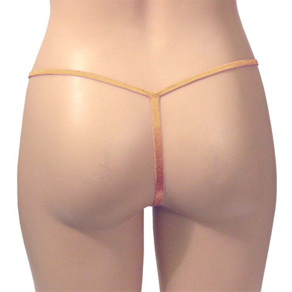 G-String Panty Gold Champagne One Size - View #3