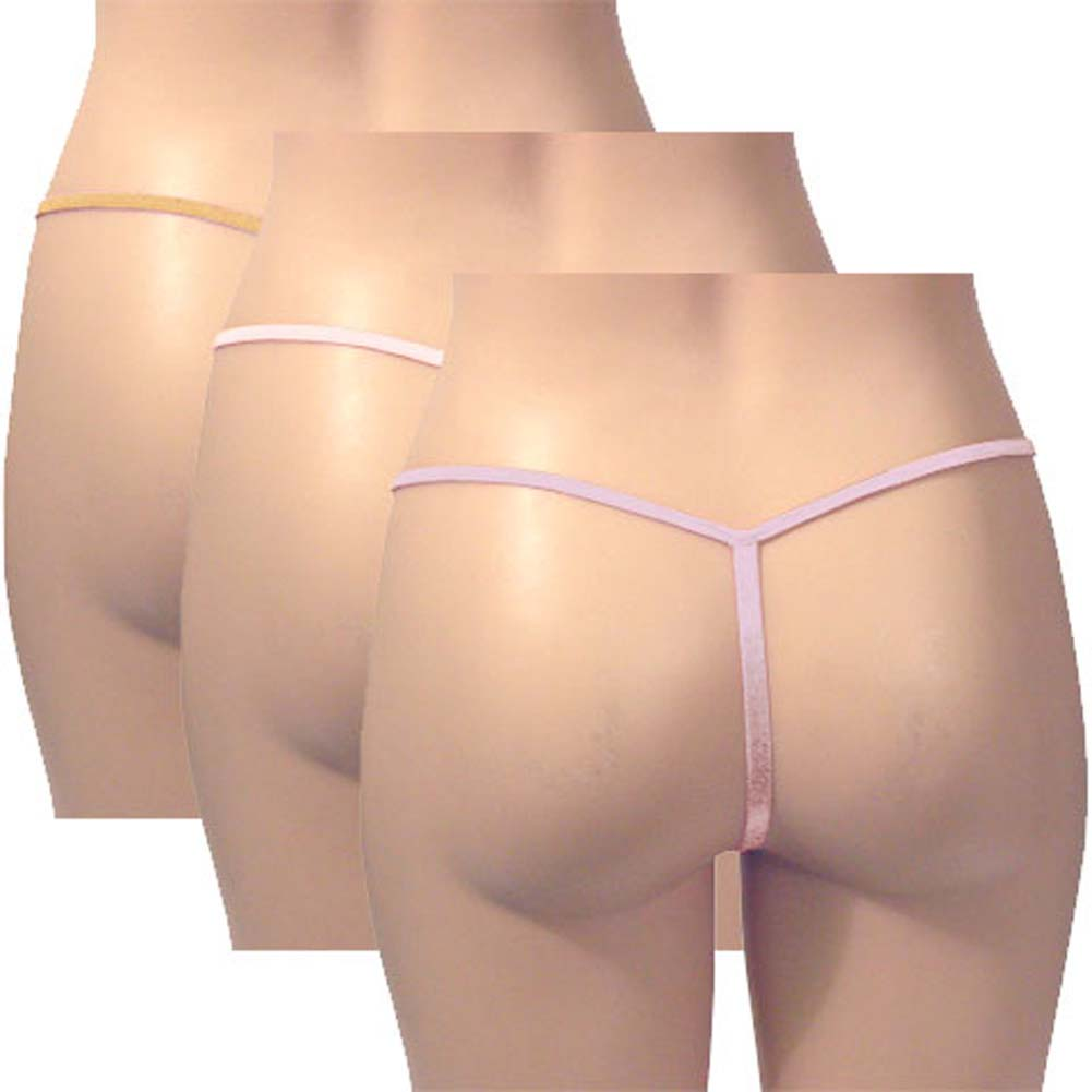 G-String Panty Pastel Colors 3 Pack - View #2