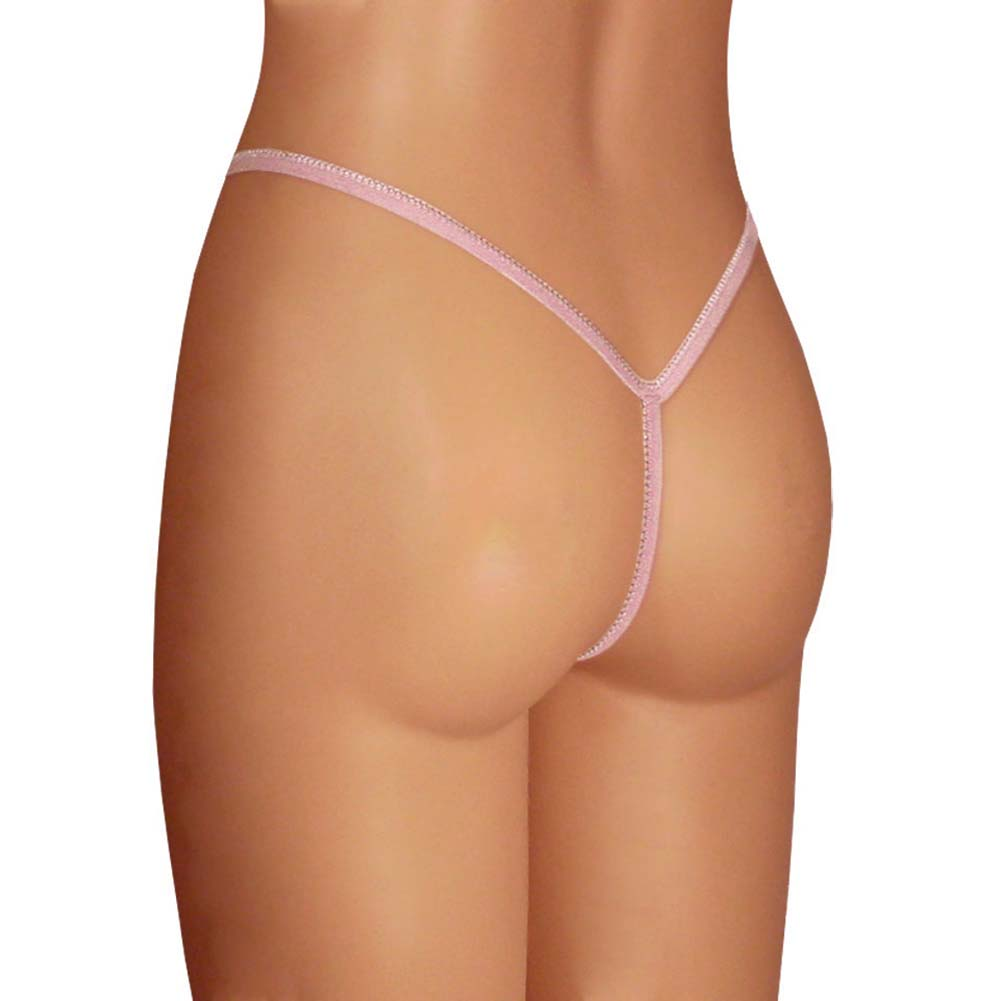 Dear Lady Collection Silk G-String Panty Small Lotus Blush Pink - View #1