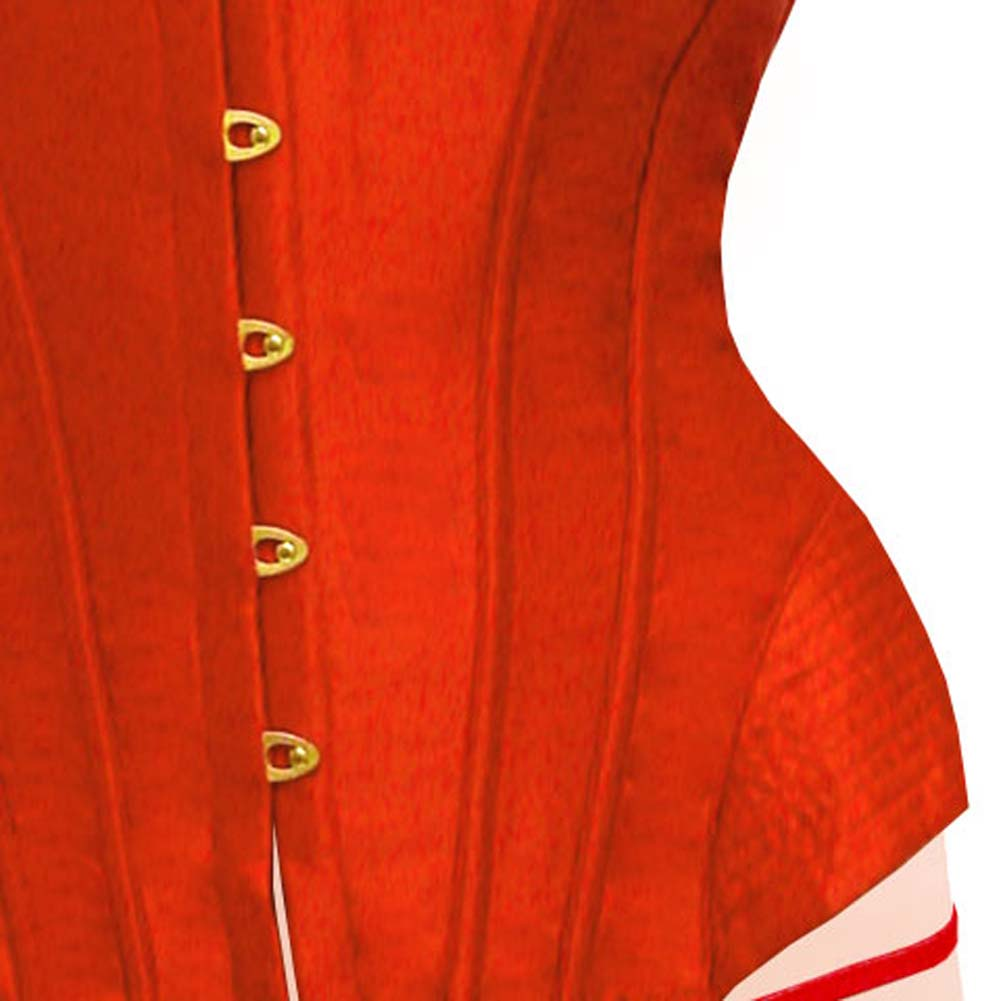 Dear Lady Clubwear Lace Up Back Strapless Corset and G-String Set Size 34 Hot Red - View #3
