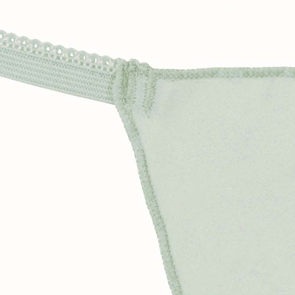 Dear Lady Collection Silk G-String Panty for Women Extra Large Sea Foam Blue - View #3