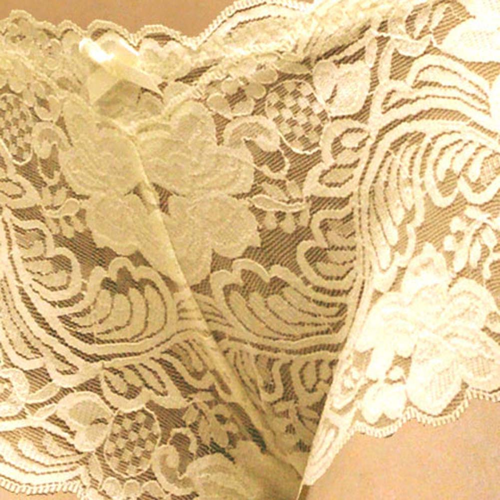 Floral Lace Boy Short Panty Ivory Orchids Large Size - View #3