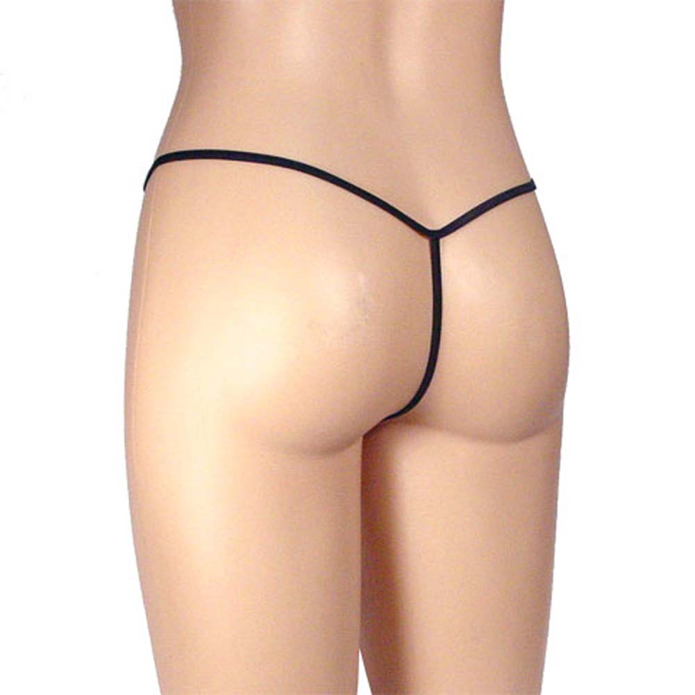 G-String Purple Panty with Black Trim Size Medium - View #1