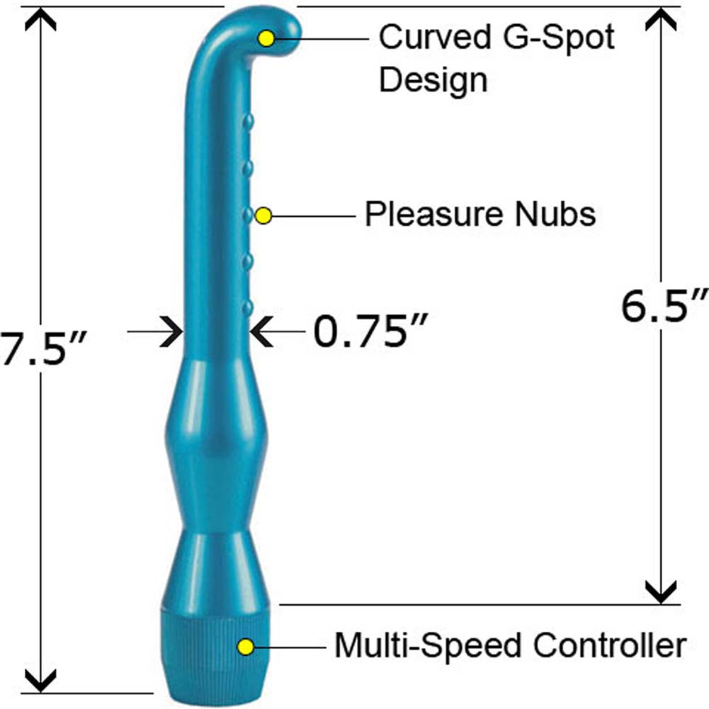 Waterproof G-Spot Wand Blue 6.5 In. - View #2