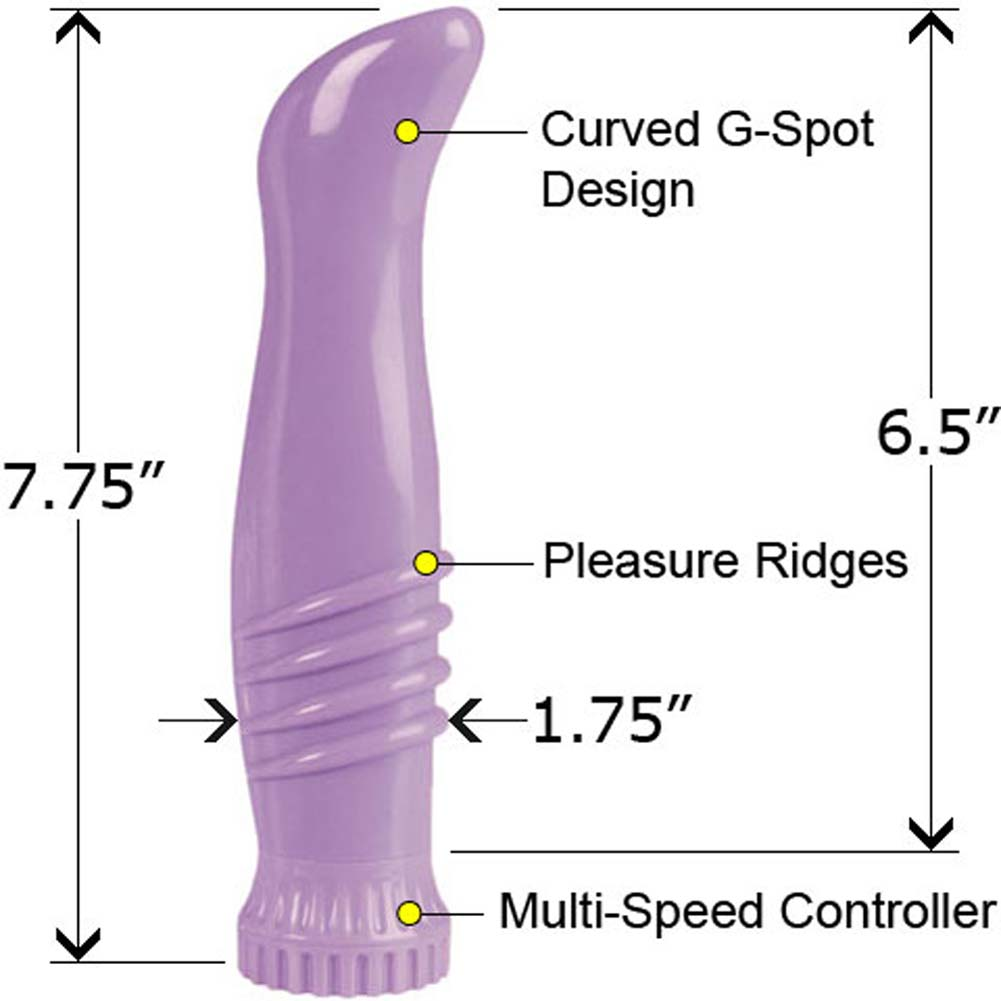Waterproof Power G Vibe Purple 7.75 In. - View #1