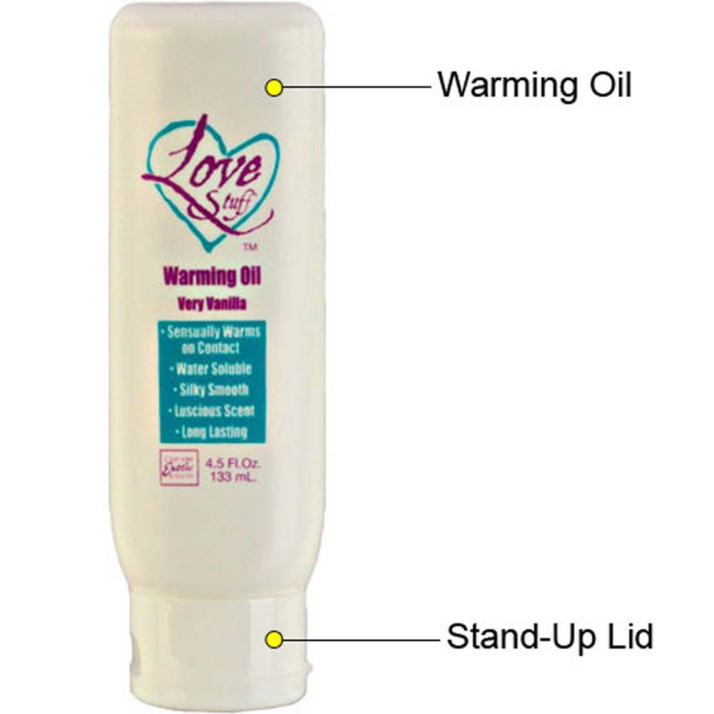 Love Stuff Warming Oil Very Vanilla 4.5 Fl. Oz. - View #1