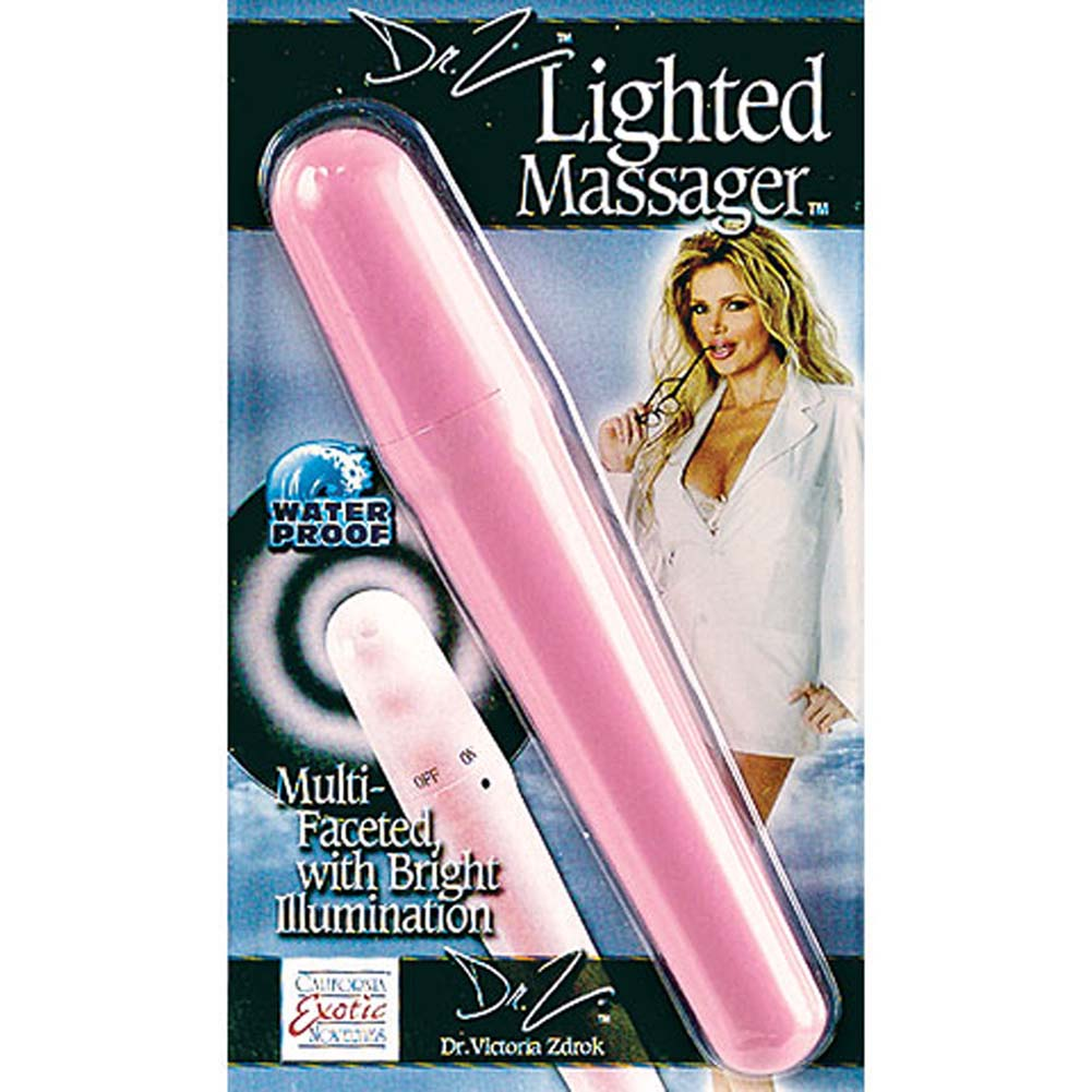 "Dr. Z Waterproof Lighted Vibrator 6"" Pink - View #3"