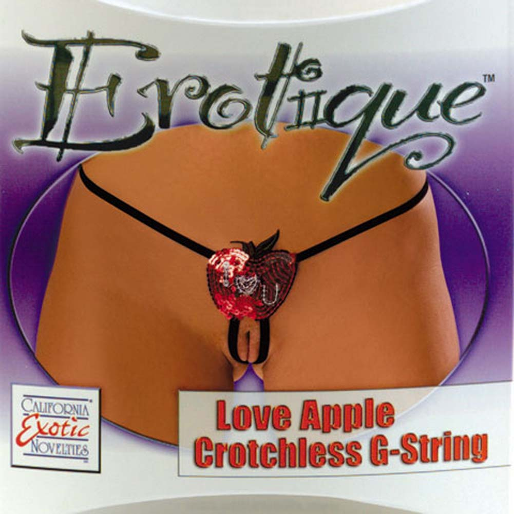 Erotique Love Apple Crotchless G-String - View #1