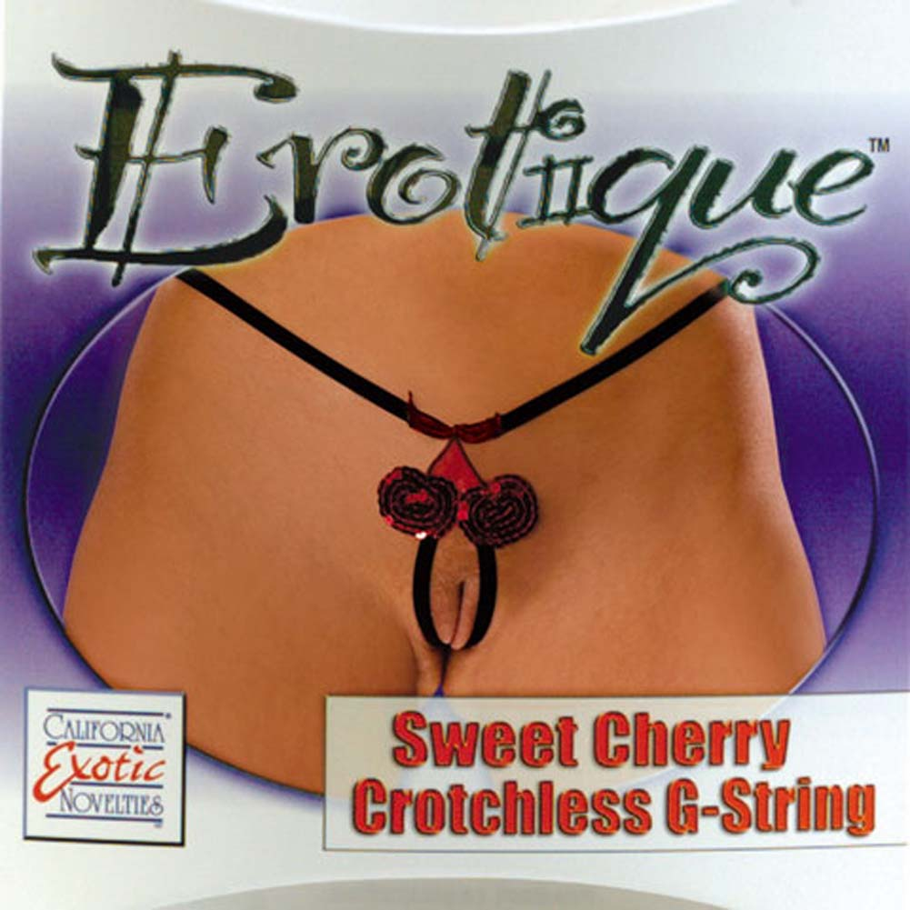 Erotique Sweet Cherry Crotchless G-String - View #1