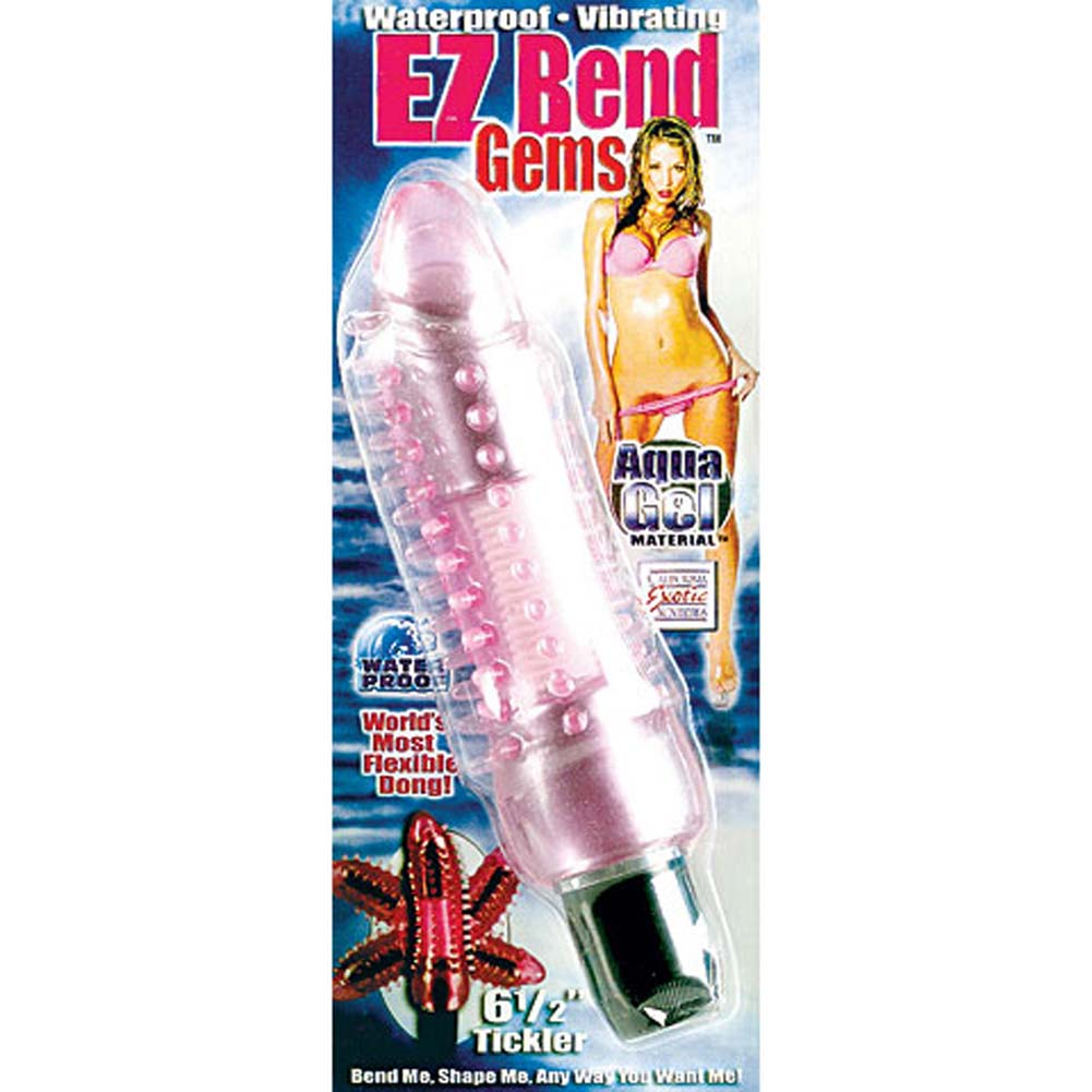 "Waterproof Vibrating EZ Bend 6.5"" Tickler Pink - View #4"
