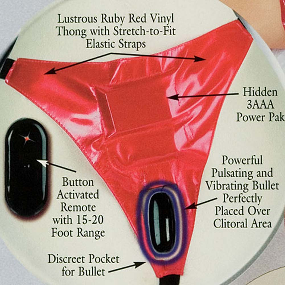 Pulsating and Vibrating Ruby Panty with Remote Control - View #2