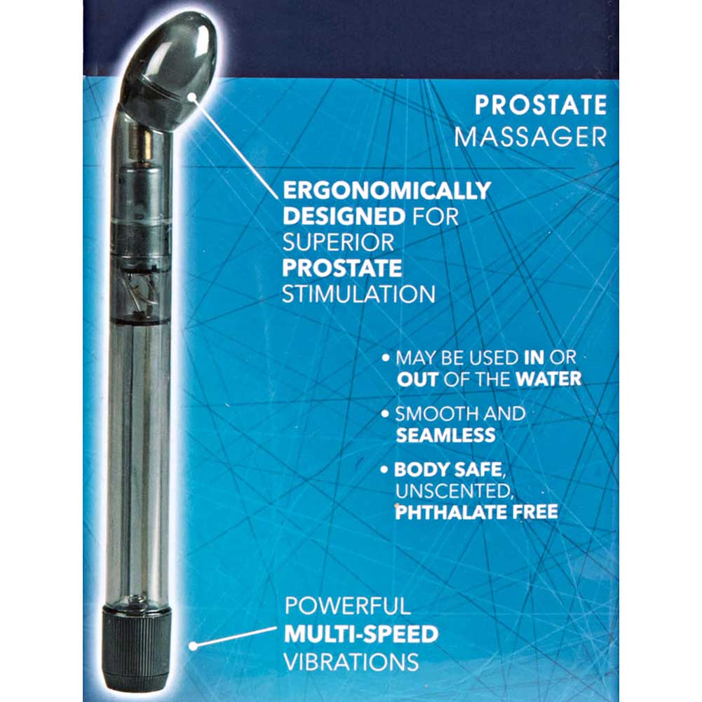 "CalExotics Dr. Joel Kaplan Prostate Massager Vibrating Anal Probe 7.5"" Smoke - View #3"