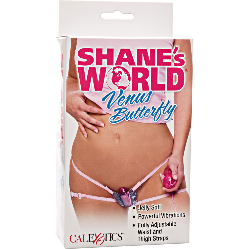 California Exotics ShaneS World Venus Butterfly Jelly Vibe Sensual Pink - View #4