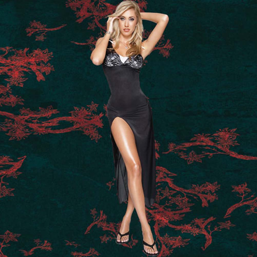 Sheer Stretch Lycra Gown with G-String Extra Large - View #2