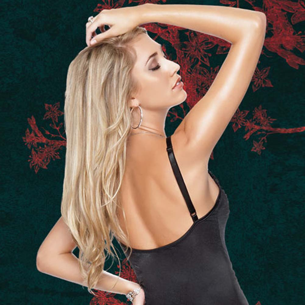 Sheer Stretch Lycra Gown with G-String Extra Large - View #4