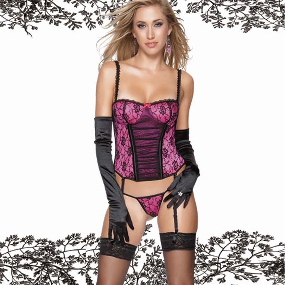 Gathered Front Bustier with G-String Large - View #1