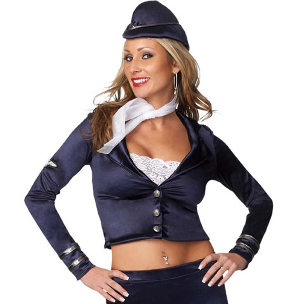 Flight Attendant 5 Piece Costume Medium/Large - View #3