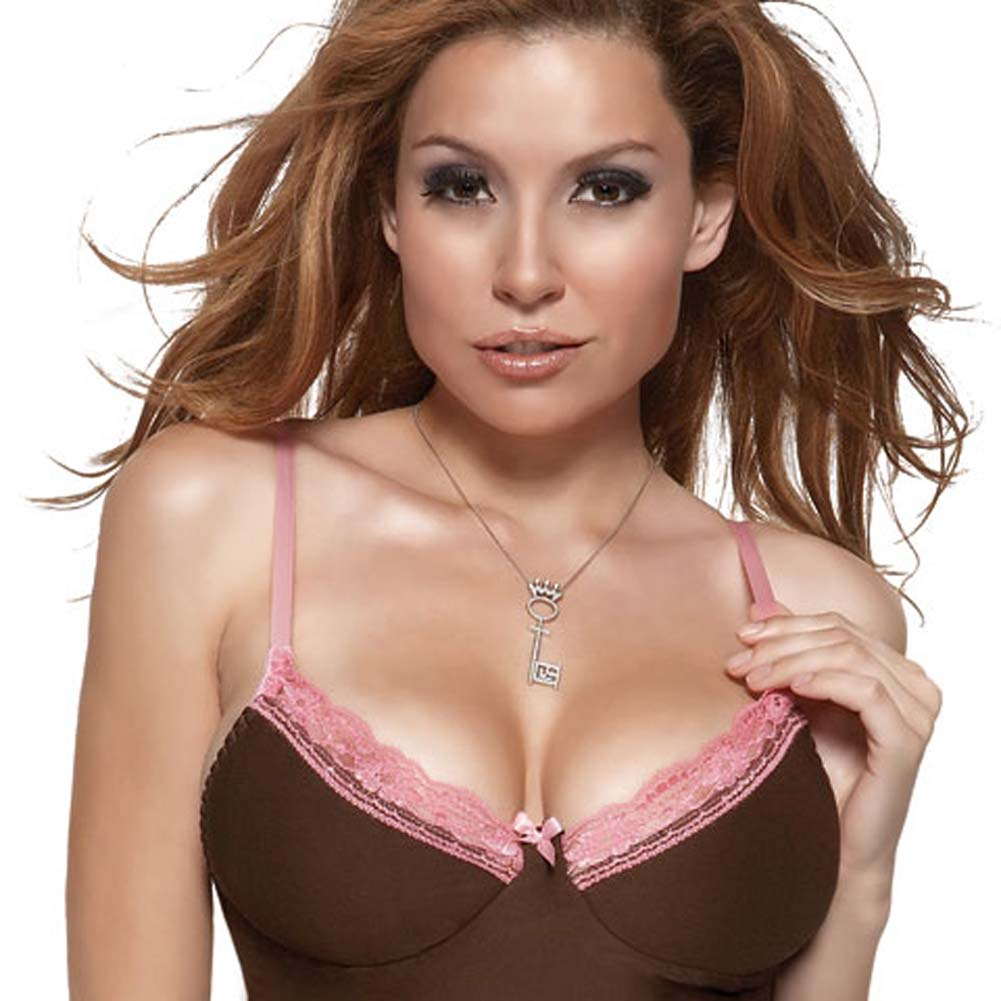Penthouse Lacey Lady Underwire Cami and Thong Brown/Medium - View #3