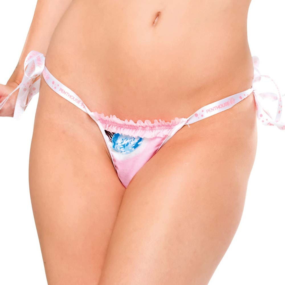 Penthouse Sweet Pet Cotton Thong with Side Ties - View #1