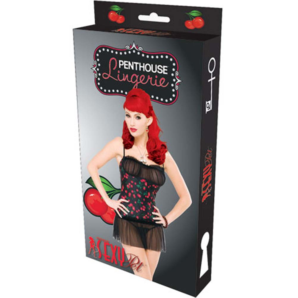 Penthouse Cherry Berry Chemise Black Small - View #4