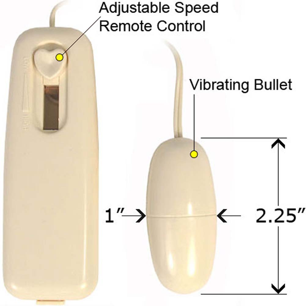 "Multi Speed Vibrating Love Bullet 2.25"" Ivory - View #1"