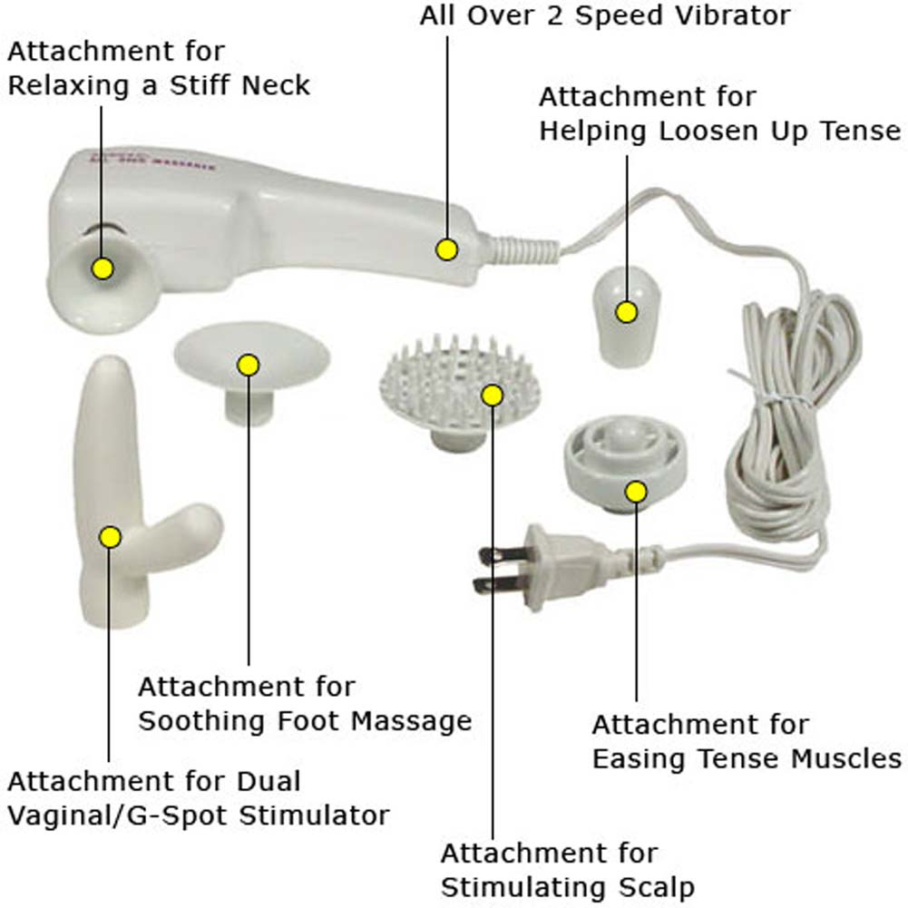 Foreplay to Love Electric Vibrating Kit with Six Attachments - View #2