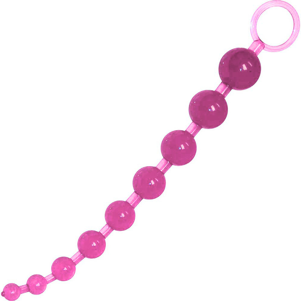 "OptiSex Graduated Anal Beads for Men and Women 11"" Sensual Pink - View #3"