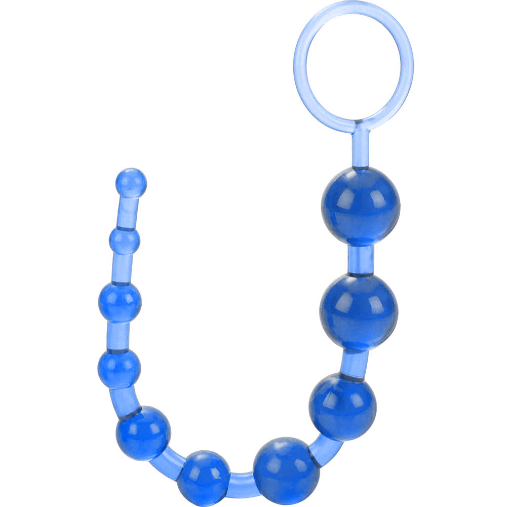 "OptiSex Love Beads with Safety Pull Loop 12"" Deep Blue - View #3"