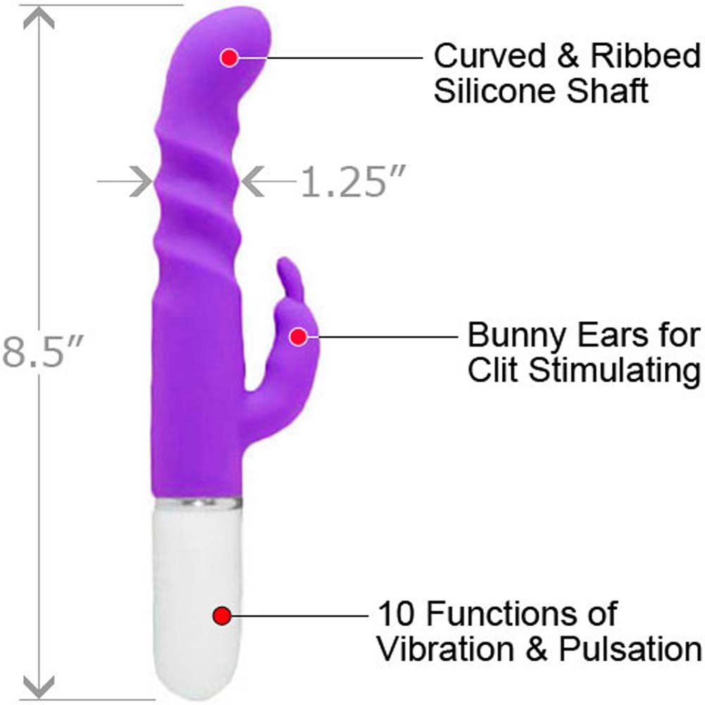 "Synergy Elite Silicone Entice G-Spot Rabbit Vibrator for Women 8.5"" Lavender - View #1"