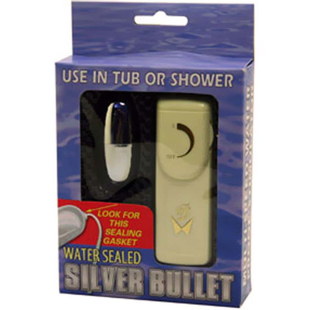 Water Sealed Vibrating Silver Bullet with Remote Control - View #3