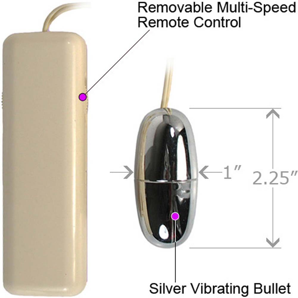 Vibrating Multispeed Silver Bullet with Remote Control Ivory - View #1