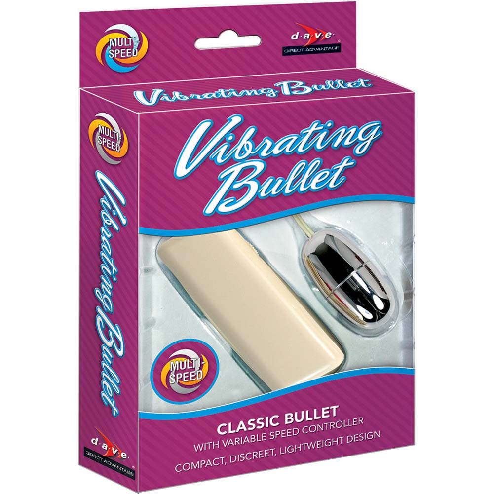 Vibrating Multispeed Silver Bullet with Remote Control Ivory - View #3