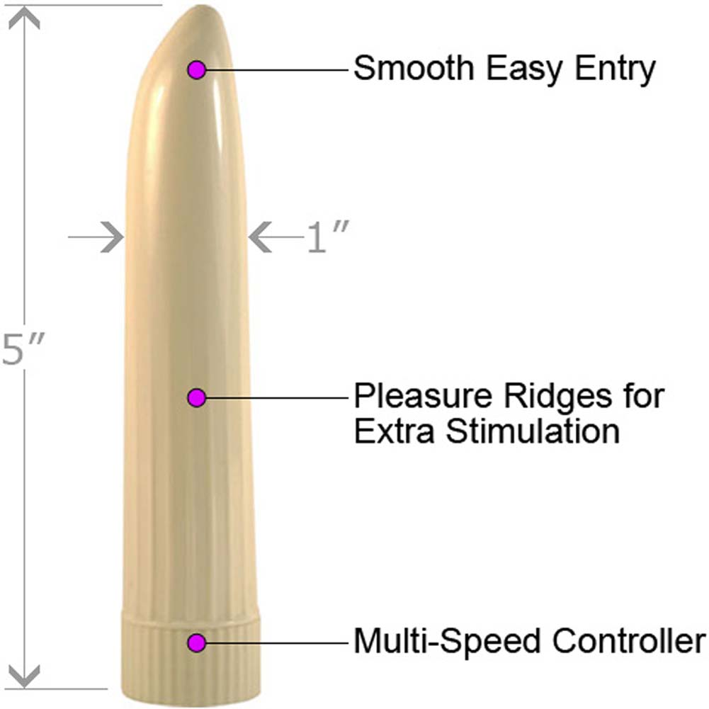 """Lady Finger Portable Single Speed Personal Vibrator 5"""" Ivory - View #1"""