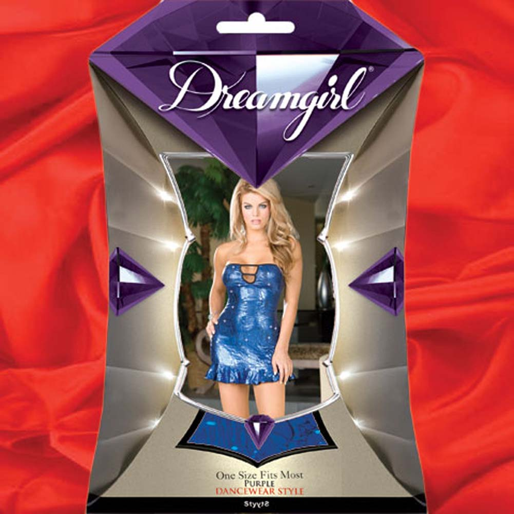 Shake Ya Sass Blue Foil Strapless Dress and Thong - View #4