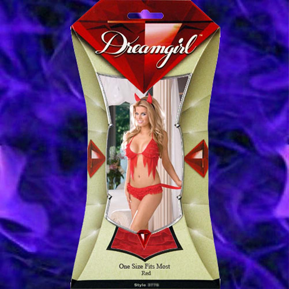Hot Diggity Devil Bedroom Costume Set Red - View #4