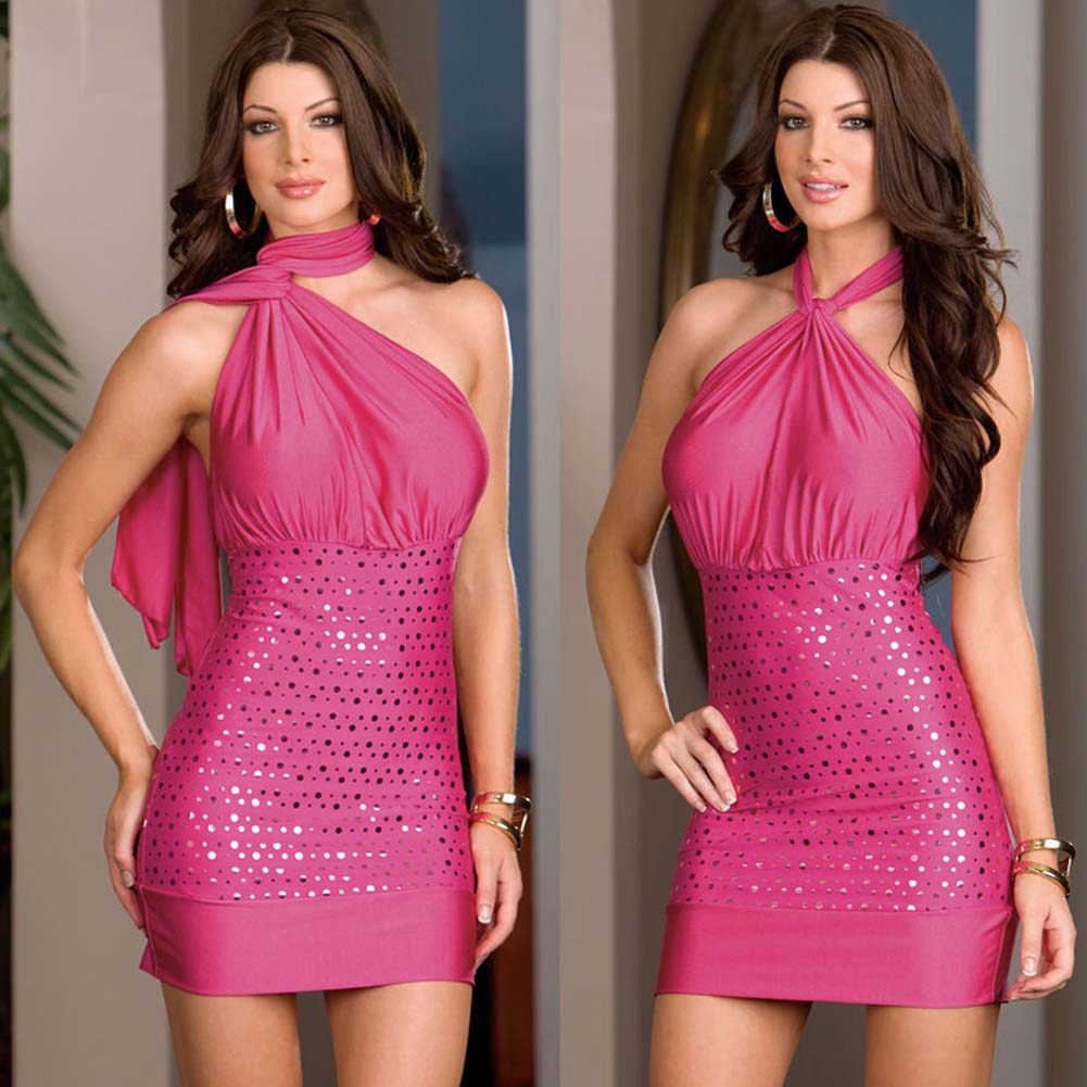 Versatile Dress with Thong and Styling Instructions Hot Pink - View #4