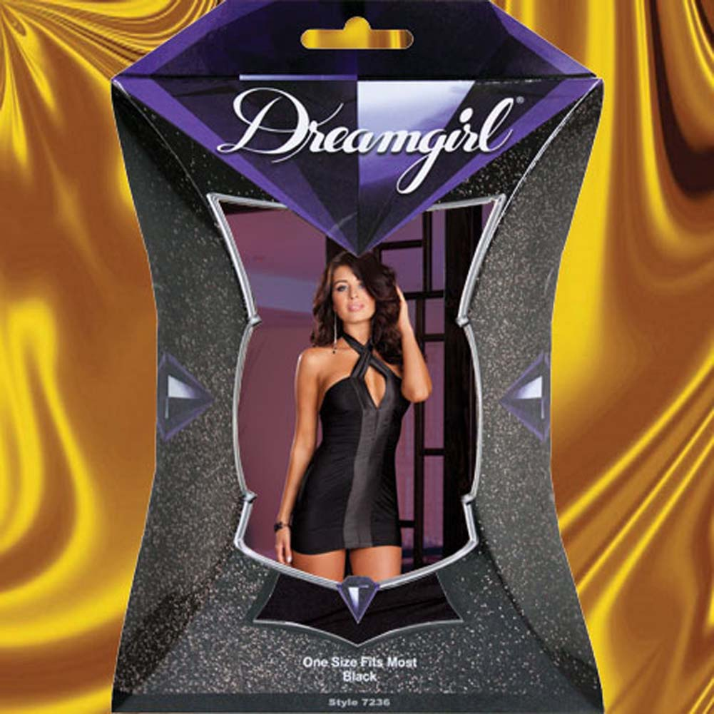 Topsy Turvy Versatile Chemise Dress and Thong Black - View #4