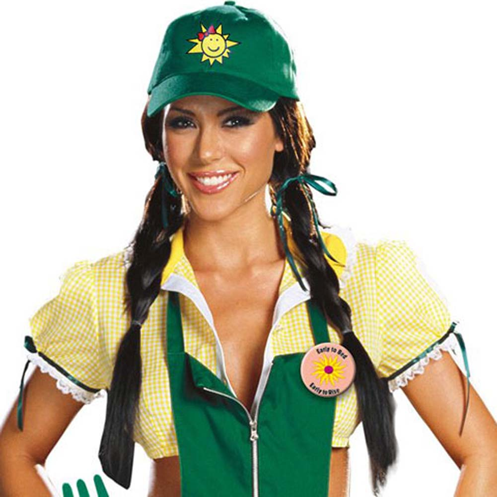 Garden Ho Farm Girl Sexy Halloween Costume Small Green - View #2