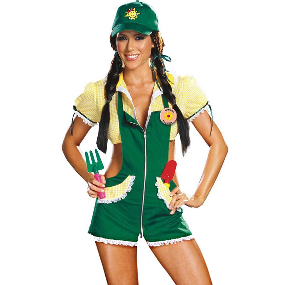 Garden Ho Farm Girl Sexy Halloween Costume Medium Green - View #1