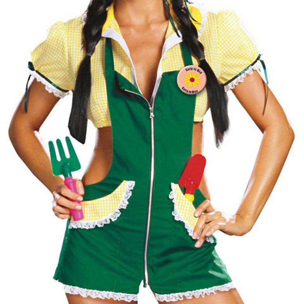 Garden Ho Farm Girl Sexy Halloween Costume Medium Green - View #3